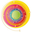 Bunter Energiewirbel - Logo - Esoterik
