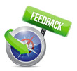 compass guide to feedback. illustration design