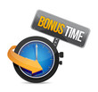 bonus time watch illustration design