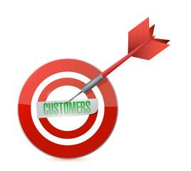 customers target and dart illustration design