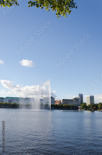 Alster Lake Fountain