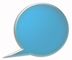 blue 3d speech bubble
