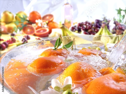 arance in acqua