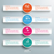 Three White Banners Infographic 4 Options
