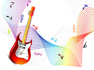 Abstract Music Wave Background