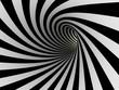 Leinwandbild Motiv Tunnel of black and white lines