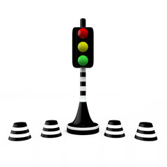 Traffic light, 3D