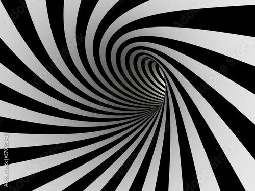 Fototapeta Tunnel of black and white lines