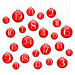 Advent Calendar Christmas Balls Red/Silver
