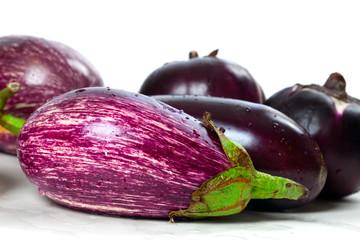 Different varieties of eggplant