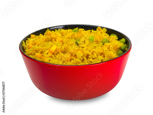 Bowl of rice with vegetables