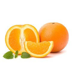 Orange and citron mint leaf