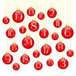 Advent Calendar Christmas Balls Red/Gold