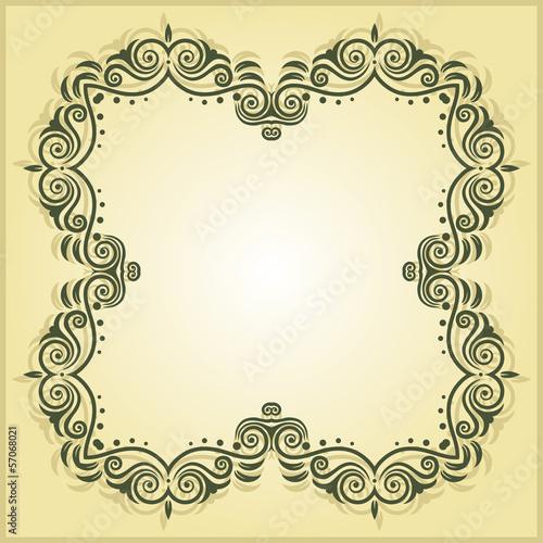Vintage Frame Border Design