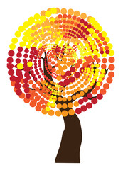 vector abstract fall tree