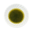 A small bowl of olive oil and thyme seasoning