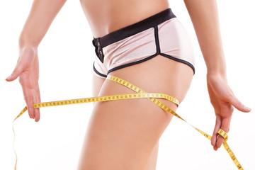Oberschenkel messen - Diät