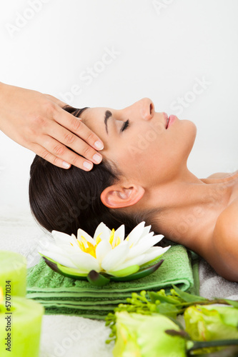 Woman In Spa Saloon