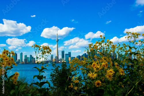 Fotobehang Grote meren Toronto Skyline on a Beautiful Day