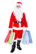 Portrait of santa holding shopping bag