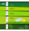 Modern green ecology design template, horizontal