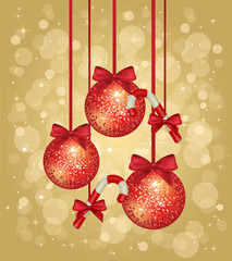 gold christmas greeting card