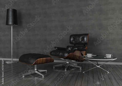 interior design armchair and table