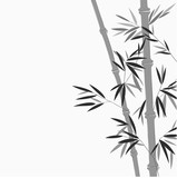 Bamboo in Chinese painting style