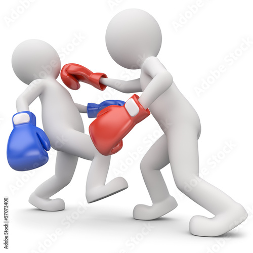 männchen boxkampf ko Schlag