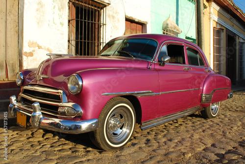 Fotobehang Caraïben Automobile à Cuba