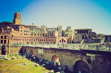 Trajan's Market, Rome retro look