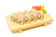 Sushi with crab, traditional japanese food
