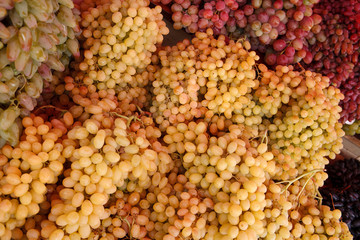 Bunch of ripen grapes