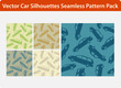Car silhouettes - seamless pattern pack