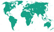 Green Sea Detailed World Map