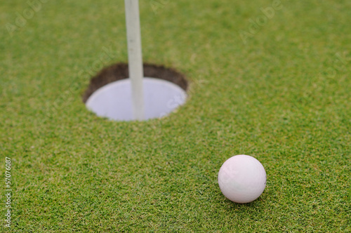 golf hole close up for eagle
