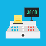 Vector Cash Register Icon
