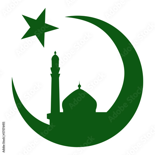 Symbol of Islam and mosque, ramadan