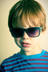 Young boy with shades