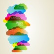 Abstract cloud background vector.