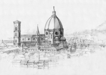 Sketch of the Florence Cathedral