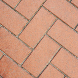 Red brick pavement fragment texture