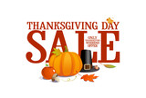 Thanksgiving day sale design.