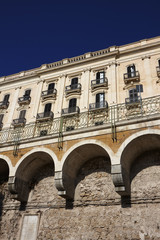 Italy, Sicily, Siracusa, Ortigia, old baroque building