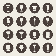 Alcohol glass  icons