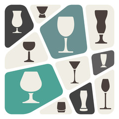 Alcohol glass background
