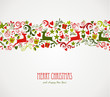 Merry Christmas decorations elements border.