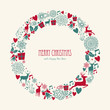 Merry Christmas elements decoration circle shape.