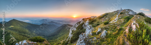 Fotobehang Oost Europa sunset landscape