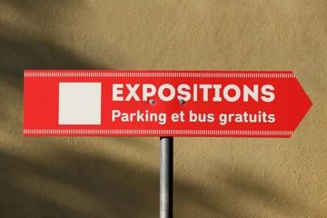 Fléchage d'expositions